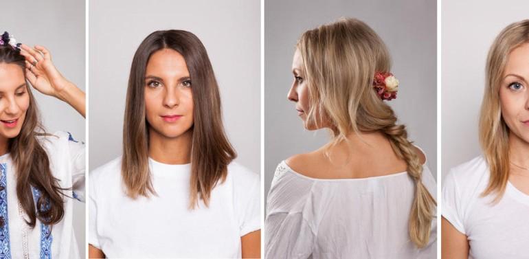 Flechtfrisuren mit Clip-In Hair-Extensions