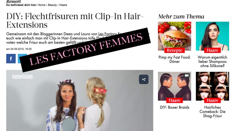 Flechtfrisuren mit Clip-In Hair-Extensions