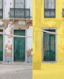Portugal Interior Design, Inspiration yellow door, indoor, architecture, architektur, blaue türe haustüre, les factory femmes
