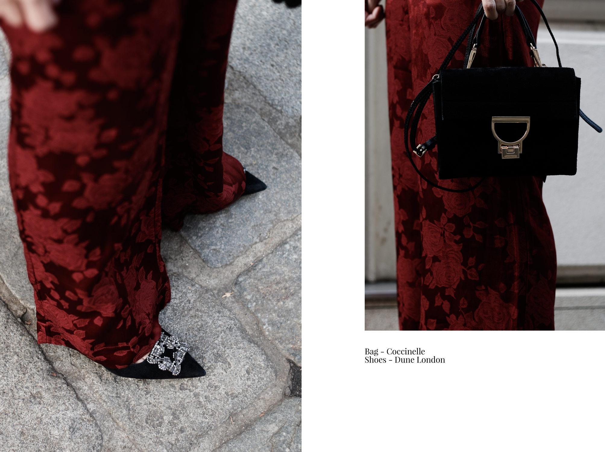 Trendfarbe Bordeaux Anzug - LES FACTORY FEMMES