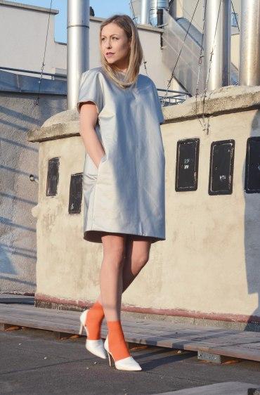 silver dress cos