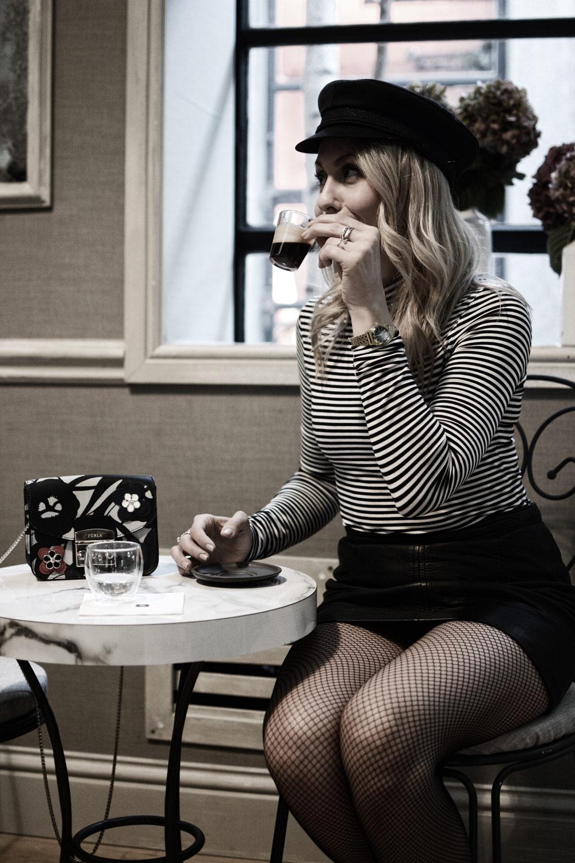 nespresso atelier london, fishnet, furla bag