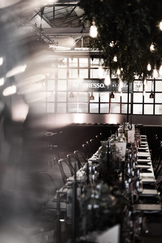 nespresso atelier london, dinner location