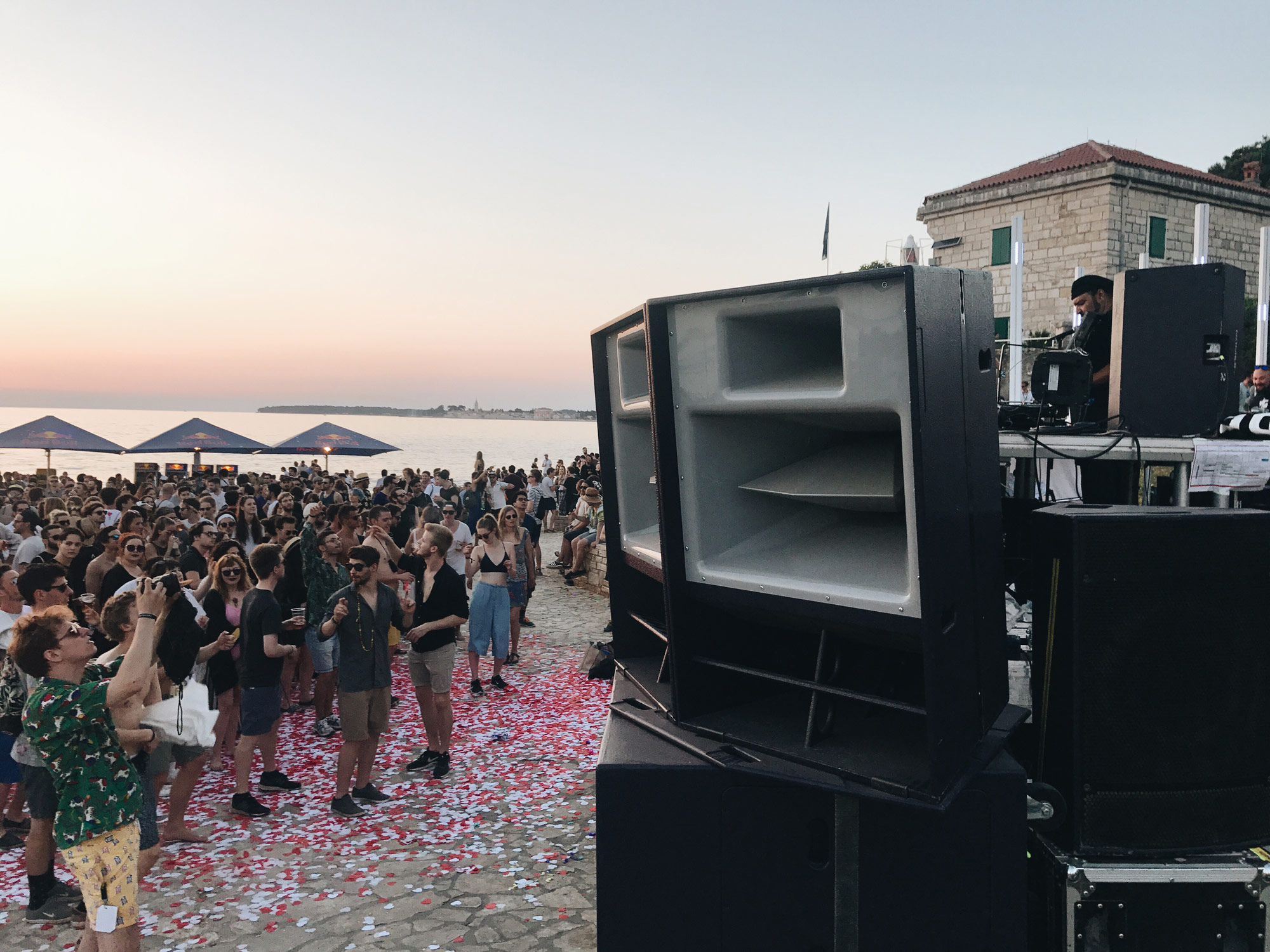 Lighthouse Festival 2017, Porec, Zalando, MainStage, Party, Sunset
