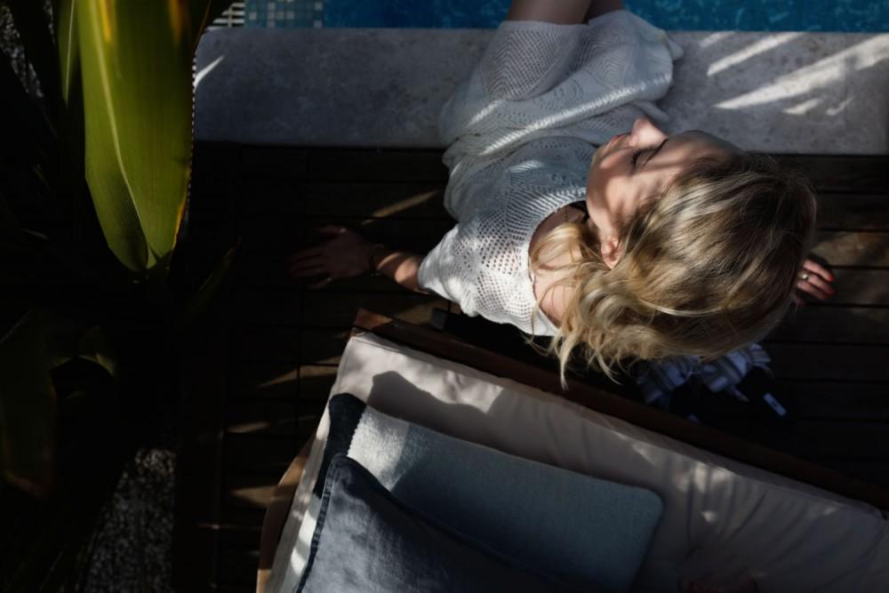Die wirksamsten Sonnenschutzprodukte, Lancaster, Biotherm, SPF 50, Tan Maximizer, Sonnenbaden ohne Risiko, Esprit Sommerkleid SS17, Miista Schlappen, Pool