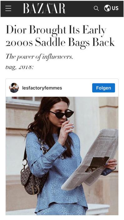 Presse Harper's Bazaar - www.lesfactoryfemmes.com